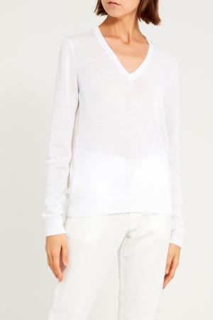 Белый пуловер Cappellini