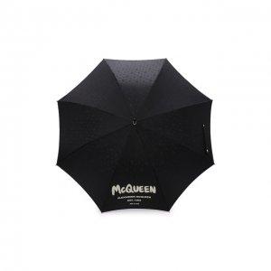 Зонт-трость Alexander McQueen. Цвет: чёрный