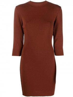 Платье мини в рубчик Drome. Цвет: коричневый