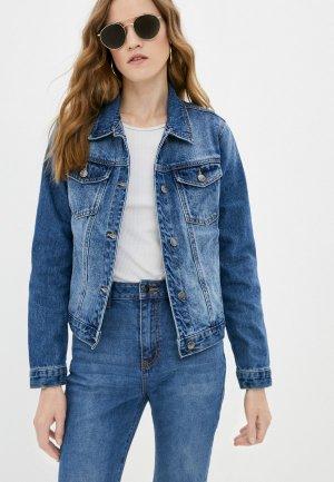 Куртка джинсовая Velocity. Цвет: синий