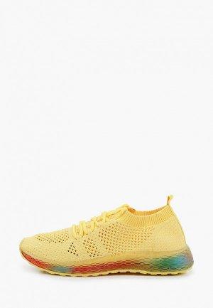 Кроссовки GLAMforever. Цвет: желтый