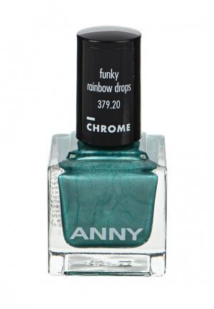 Лак для ногтей Anny тон 379.20 зеленая сосна с пералмутром. Цвет: зеленый