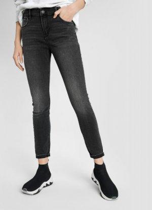 Суперузкие укороченные джинсы O`Stin. Цвет: черный