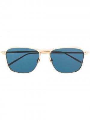 Солнцезащитные очки в квадратной оправе Matsuda. Цвет: золотистый