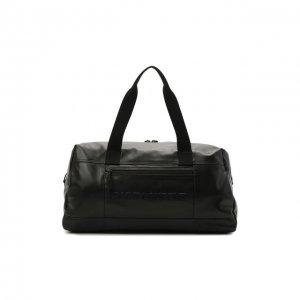 Кожаная дорожная сумка Nuxx Saint Laurent. Цвет: чёрный