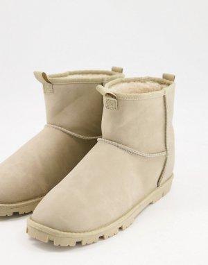 Светло-серые ботинки-слиперы из искусственной замши -Нейтральный ASOS DESIGN