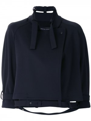 Пальто с рукавами реглан Gloria Coelho. Цвет: синий