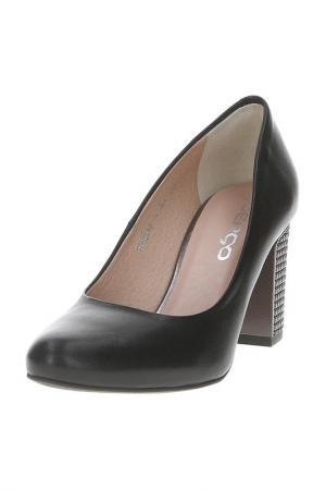 Туфли Goergo. Цвет: черный, темно-серебристый