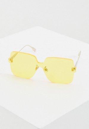 Очки солнцезащитные Christian Dior DIORCOLORQUAKE1 40G. Цвет: желтый