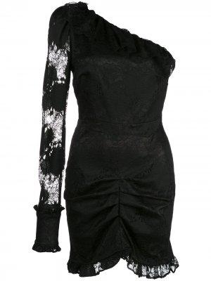 Кружевное платье Ilana Alexis. Цвет: черный