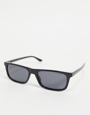 Солнцезащитные очки в стиле унисекс с узкими линзами -Черный цвет Polaroid