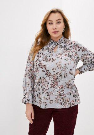 Блуза Lacy. Цвет: серый