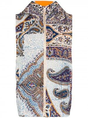 Iranian printed quilted gilet Paria Farzaneh. Цвет: синий