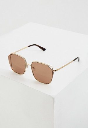 Очки солнцезащитные McQ Alexander McQueen MQ0287SA. Цвет: золотой