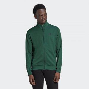 Олимпийка Trefoil Essentials Originals adidas. Цвет: зеленый