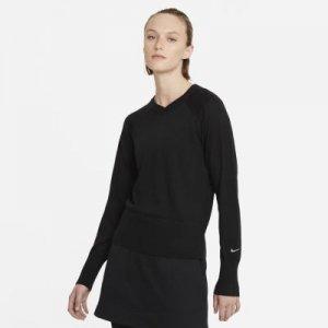 Женский свитер с длинным рукавом для гольфа Nike Ace - Черный