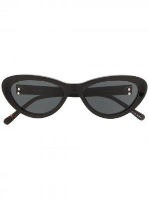 Солнцезащитные очки в оправе кошачий глаз Doublet. Цвет: черный