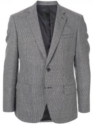 Durban однобортный пиджак с микроузором D'urban. Цвет: серый