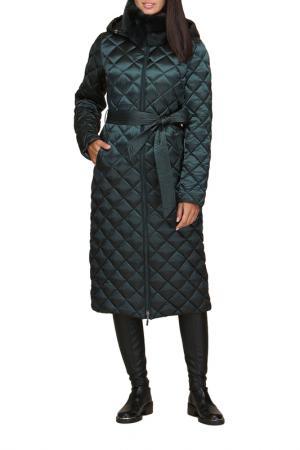 Пальто Conso. Цвет: зеленый
