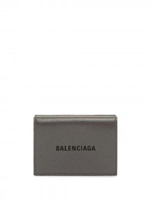 Мини-кошелек Cash Balenciaga. Цвет: серый
