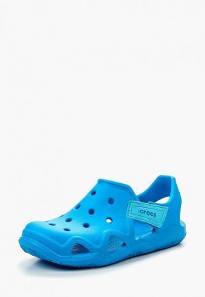 Сандалии Crocs Swiftwater Wave K. Цвет: синий