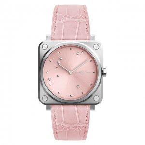 Часы Pink Eagle Bell & Ross. Цвет: розовый