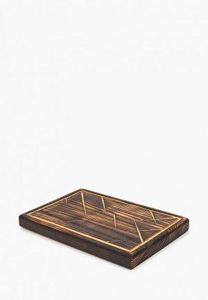 Доска разделочная Svahomeart деревянная, 25х17 см. Цвет: черный
