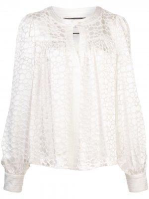 Блузка Rhida с геометричным принтом Alexis. Цвет: белый