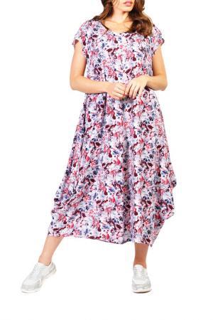 Платье Forus. Цвет: серый, розовый