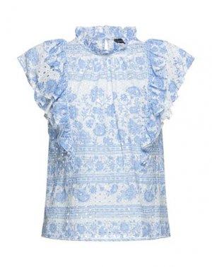 Блузка BCBGMAXAZRIA. Цвет: синий