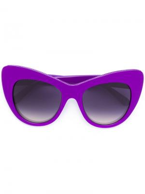 Солнцезащитные очки в оправе кошачий глаз Stella Mccartney Eyewear. Цвет: розовый и фиолетовый