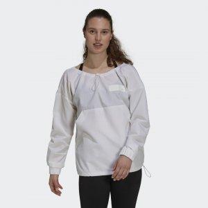 Куртка-анорак Parley Sportswear adidas. Цвет: белый