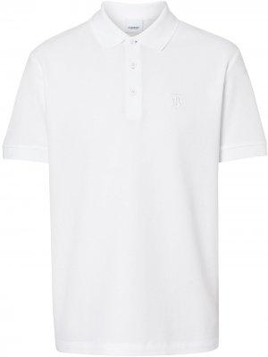 Рубашка-поло с монограммой Burberry. Цвет: белый