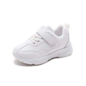Для девочек Беговая обувь минималистичный со шнурком SHEIN. Цвет: белый