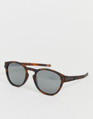 Матовые коричневые солнцезащитные очки в черепаховой оправе с черными стеклами Latch-Коричневый Oakley