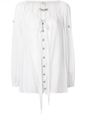 Блузка с вырезом-лодочка Jean Paul Gaultier Pre-Owned. Цвет: белый