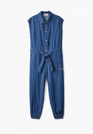 Комбинезон джинсовый Button Blue. Цвет: синий