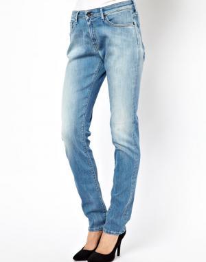 Зауженные джинсы бойфренда Point Denham. Цвет: синий