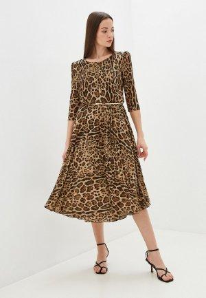 Платье Rinascimento. Цвет: коричневый