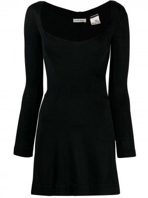 Приталенное платье мини с длинными рукавами Alaïa Pre-Owned. Цвет: черный