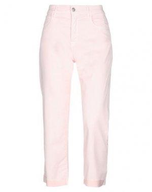 Джинсовые брюки-капри ROŸ ROGER'S. Цвет: светло-розовый