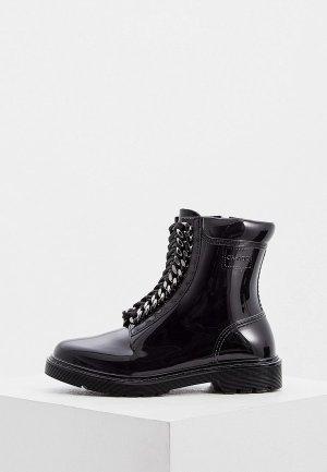 Резиновые ботинки Casadei. Цвет: черный