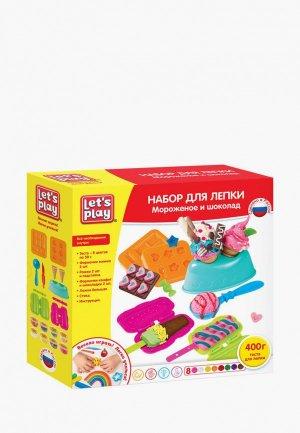 Набор для творчества Росмэн лепки. Мороженое и шоколад, 25 см. ТМ Let`s play. Цвет: разноцветный