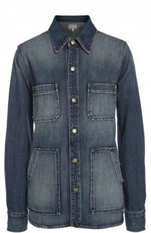 Джинсовая куртка Current/Elliott. Цвет: синий