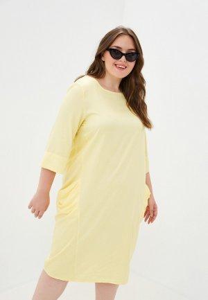 Платье Olsi. Цвет: желтый