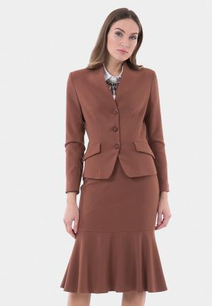 Жакет Vladi Collection. Цвет: коричневый
