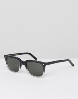 Черные солнцезащитные очки в круглой оправе Monokel Eyewear. Цвет: черный