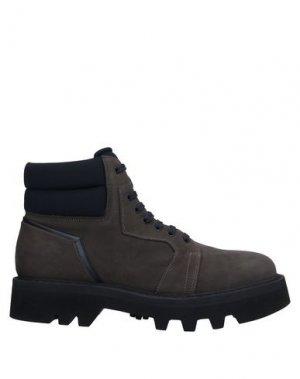 Полусапоги и высокие ботинки BRUNO BORDESE. Цвет: свинцово-серый
