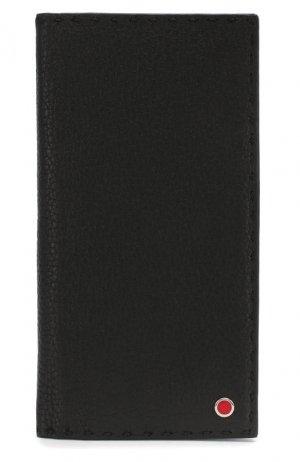 Кожаное портмоне Kiton. Цвет: черный