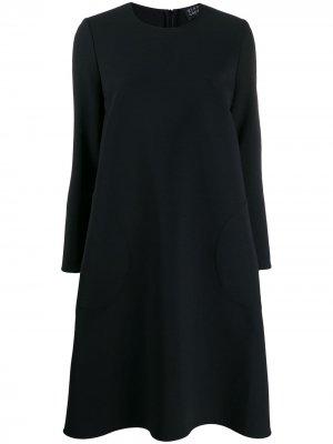 Платье-трапеция миди Gianluca Capannolo. Цвет: черный